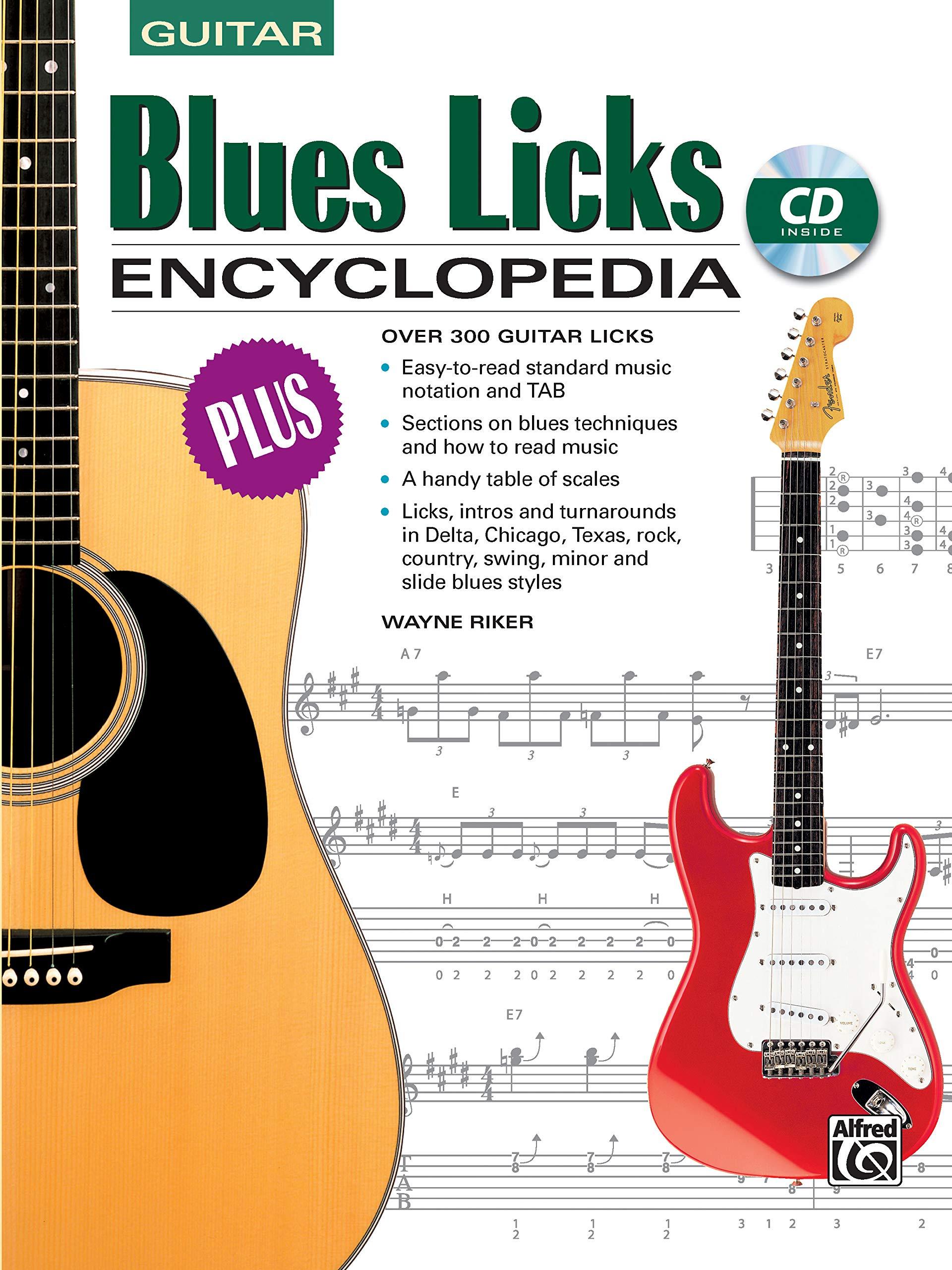 Blues Licks Encyclopedia: Over 300 Guitar Licks, Book & CD: Amazon ...