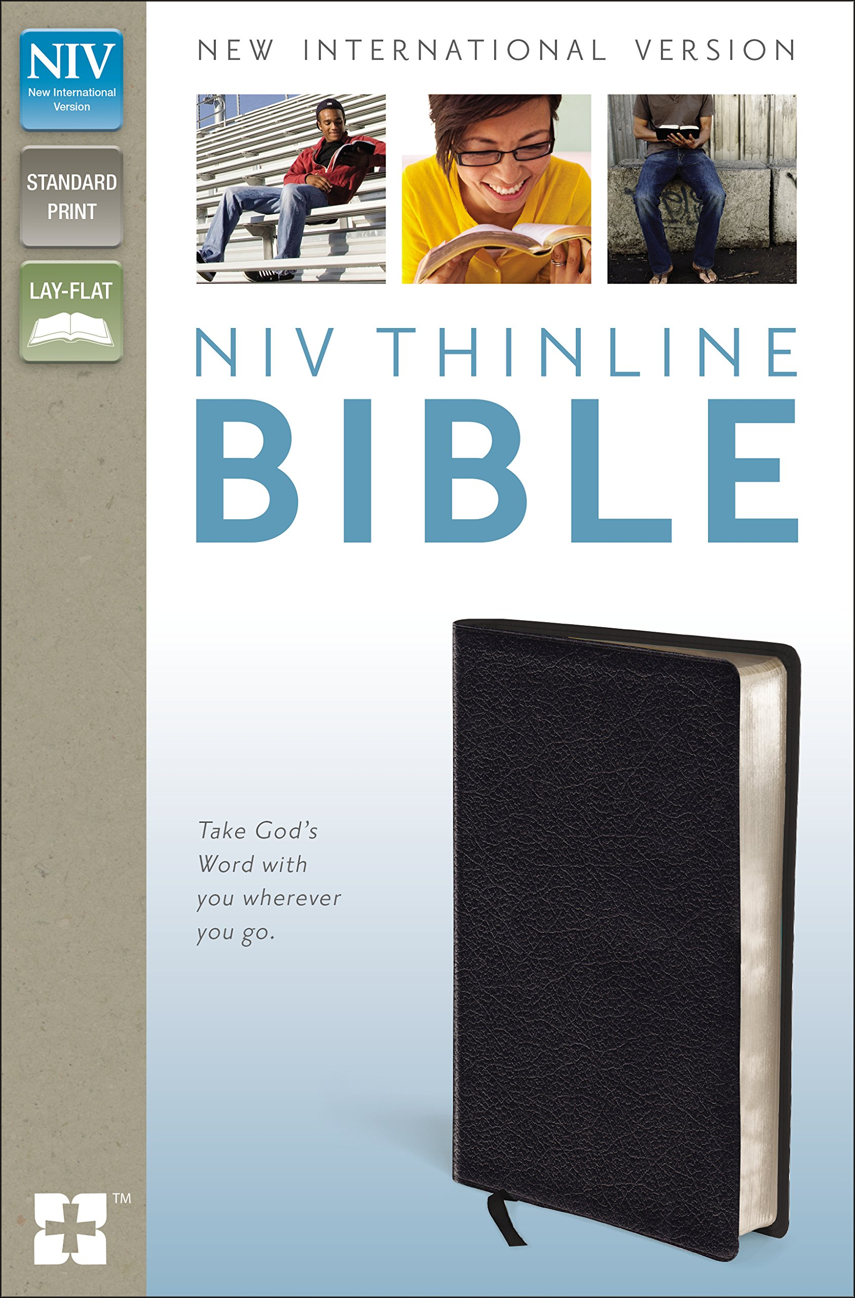 NIV, Thinline Bible, Bonded Leather, Black, Red Letter Edition by HarperCollins Christian Pub.