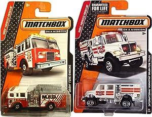 Fire Fire Truck Matchbox Rescue 2 PK Brushfire #69 & Pierce Dash Fire Engine #79 MBX Heroic Rescue Series