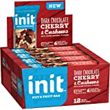 Init Nut & Fruit Bars, Dark Chocolate Cherry & Cashews, 1.41 Oz 12 Count
