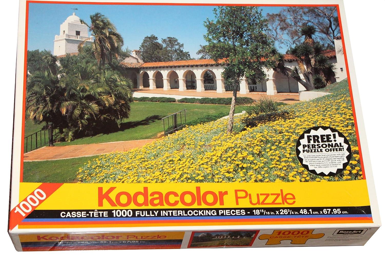 Kodacolor 1000 Piece Puzzle San Diego California RoseArt Junipero Serra Museum