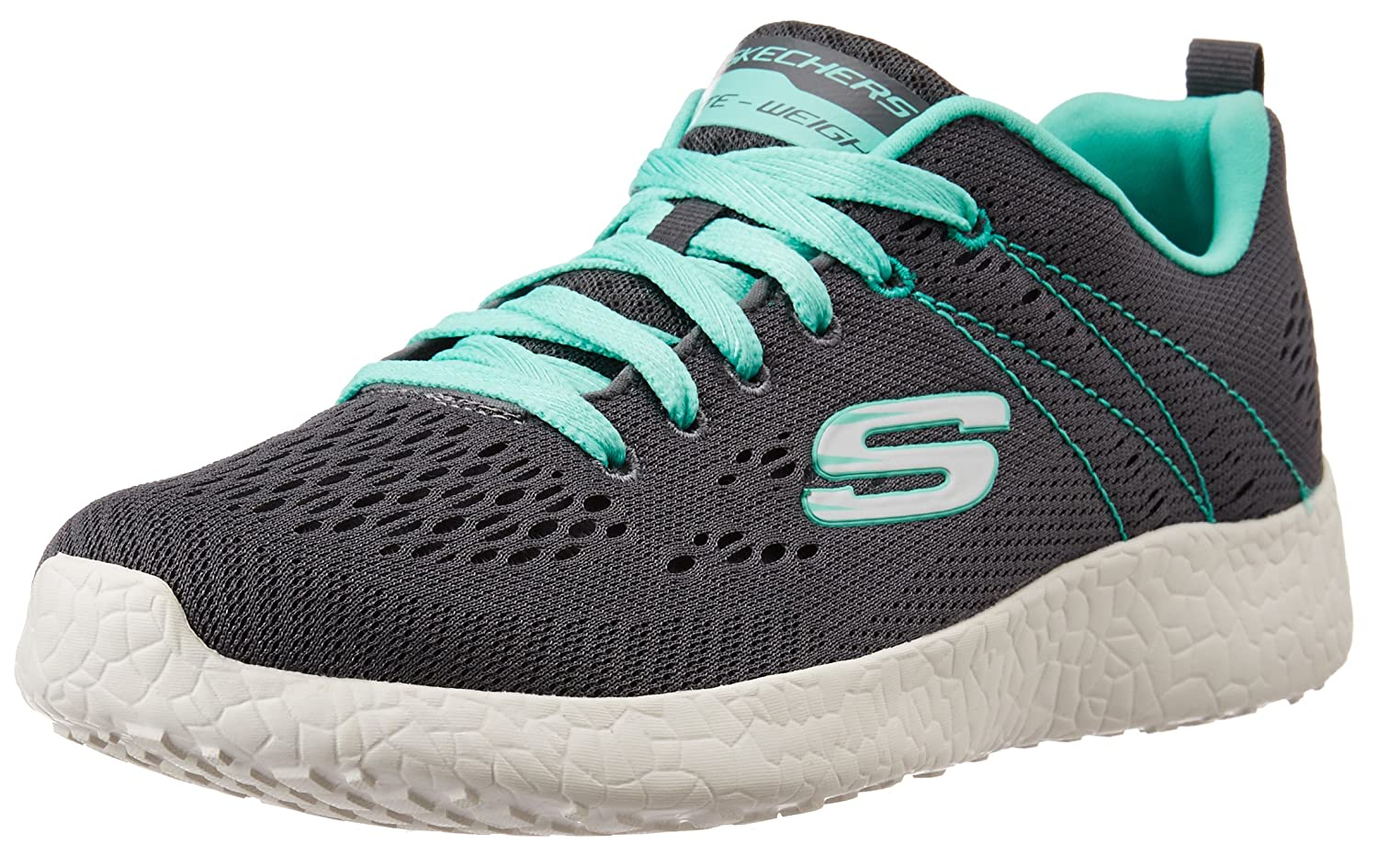 Skechers Sport Women's Burst Fashion Sneaker B00ZI9CL7S 5.5 B(M) US|Charcoal/Aqua