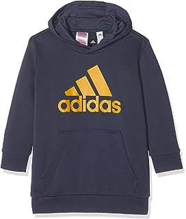 adidas Jungen Sweatshirt YB ESS OSL Crew, BlauOrange, 92