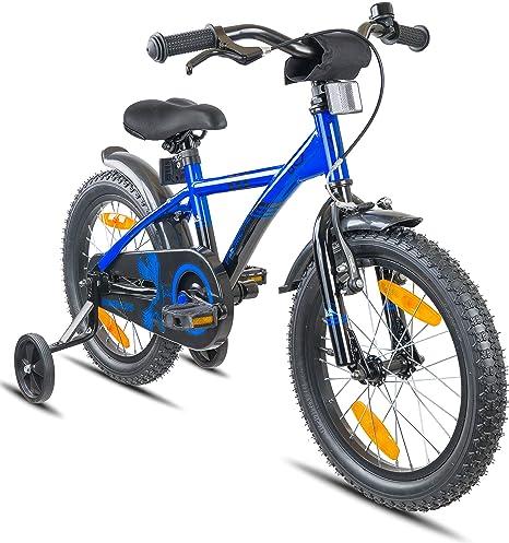 Prometheus Bicicletta Per Bambini E Bambine Da 5 Anni Nei Colori Blu E Nero Da 16 Pollici Con Rotelle E Contropedale Bmx Da 16 Modello 2019