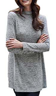 96d28ad8212d28 TopsandDresses Ladies Grey Red Knit Long Polo Long Sleeved Jumper in UK  Sizes 8 up to Plus 38…