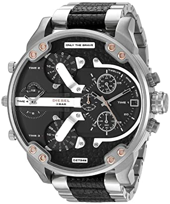 3b750cbd6af8 Amazon.com  Diesel Men s DZ7349 Mr Daddy 2.0 Analog Display Analog Quartz  Silver Watch  Watches