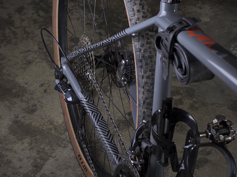 All Mountain Style Protector del Cubrecadenas Protecte tu bicicleta Negro//Laberinto