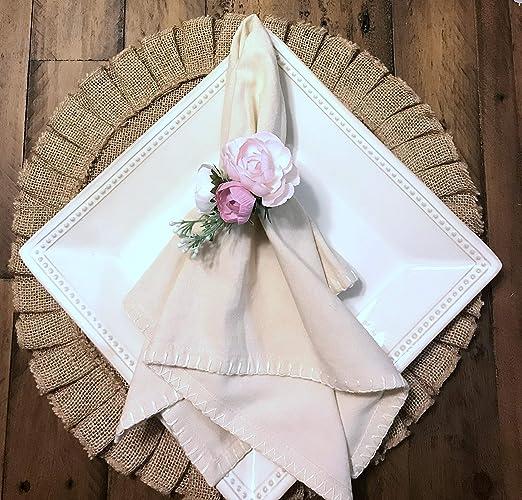 Cheap Wedding Napkin.Amazon Com Set Of 6 Napkin Rings Spring Floral Pink And Blush