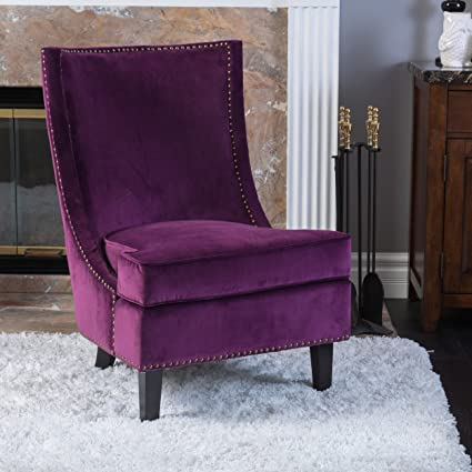 Fuschia furniture Living Room Image Unavailable Amazoncom Amazoncom Christopher Knight Home 296307 Carole Velvet Accent