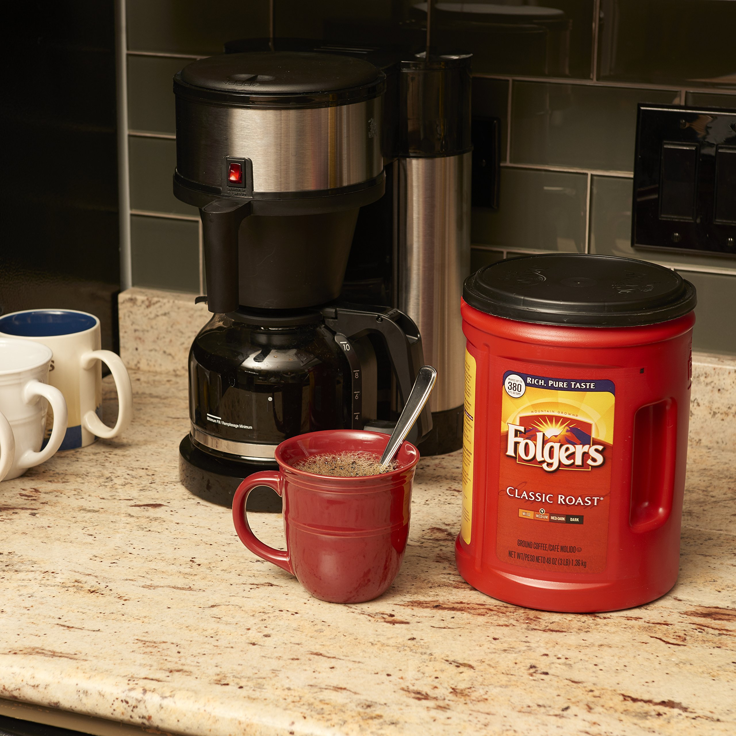 Folgers 4-Pack of 48 Ounce Canisters, Classic Medium Roast Coffee by Folgers (Image #5)
