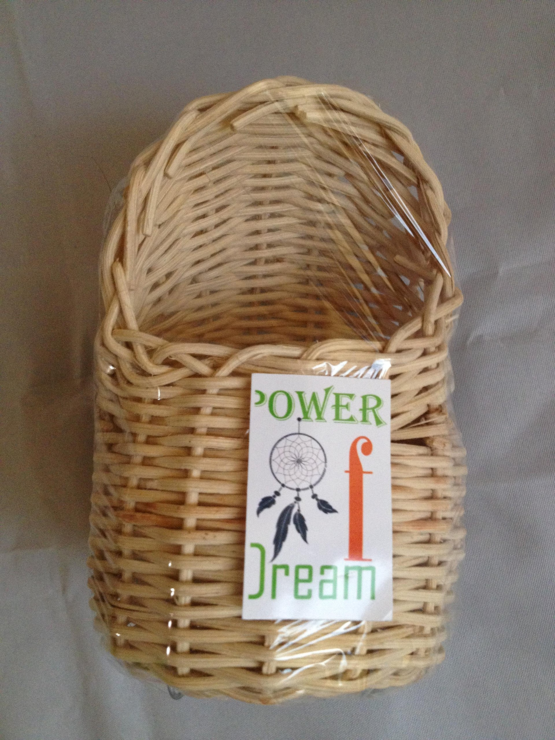 Handmade Rattan Nature's Nest Finch Birds 3x5 Inch by Power of Dream (Image #4)