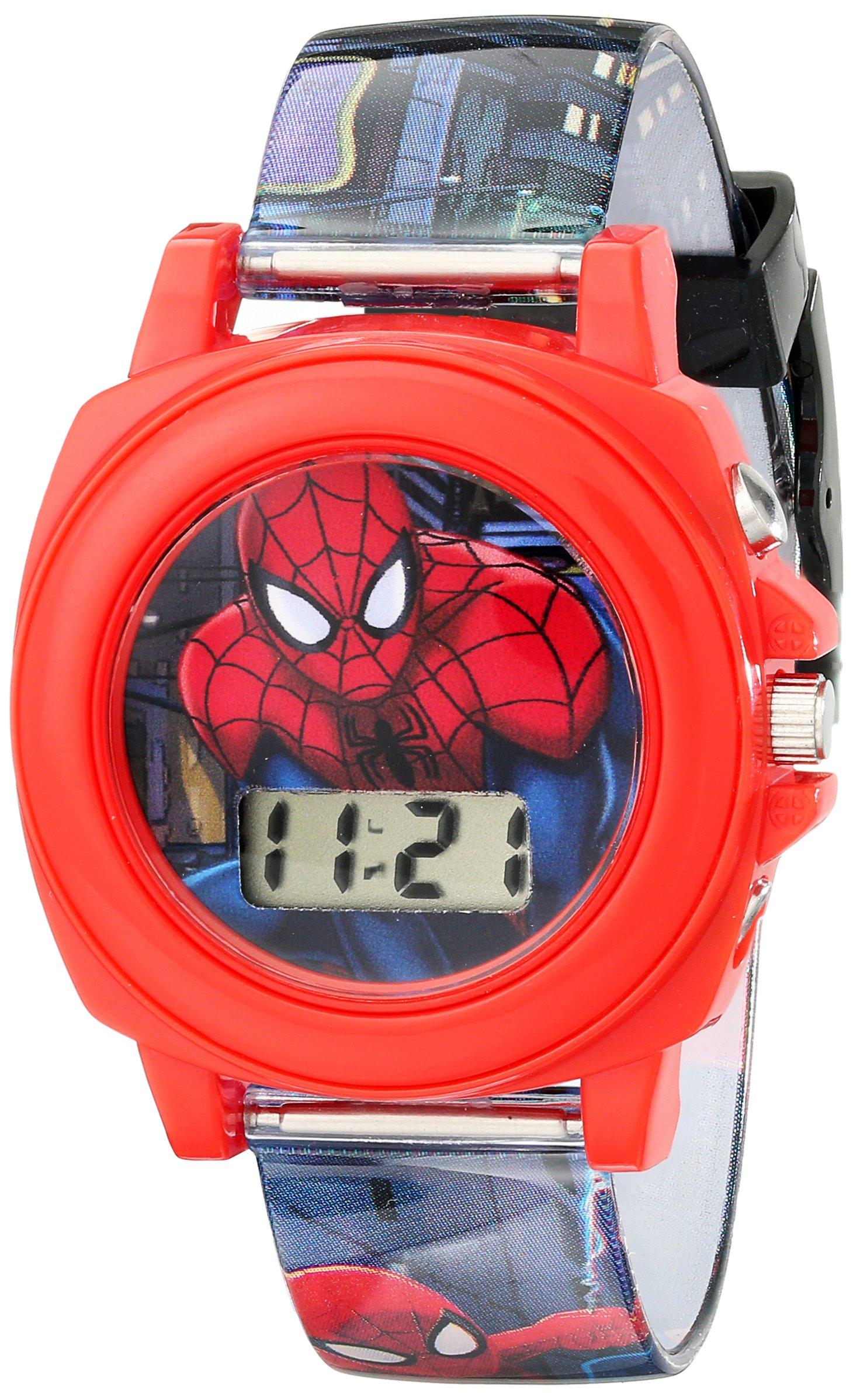 Marvel Ultimate Spider-Man Kids' SPD3422 Digital Display Analog Quartz Multi-Color Watch