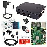 V-Kits Raspberry Pi 3 Model B+ (Plus) Complete Starter Kit Mit offizieles schwarzes Case (EU Edition) ---Enthalt: Raspberry Pi 3 Model B+ (Plus) mit 5 Wesentlich Zubehör