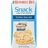 BUMBLE BEE Snack on the Run! Tuna Salad with Crackers, Canned Tuna Salad, Good Source of Protein, 3.5oz (Pack of 12)