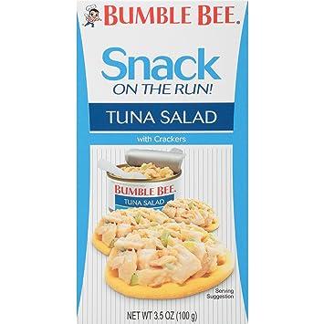Amazon bumble bee snack on the run tuna salad with crackers tuna salad with crackers kit canned tuna fish solutioingenieria Choice Image