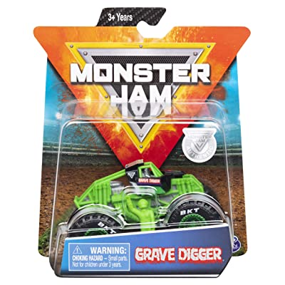 Monster Jam 2020 Spin Master 1:64 Diecast Monster Truck with Figure: Training Trucks Grave Digger: Toys & Games