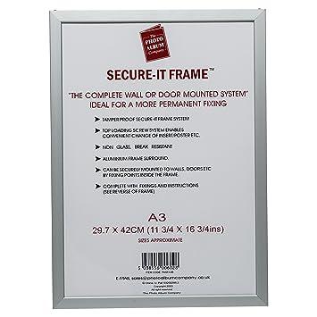 PASFA3B Secure-it Silver Aluminium A3 (30x42cm) Poster Certificate ...