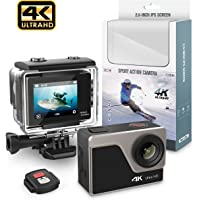 NBWEE 4K,WIFI Sports Action Camera Ultra, HD Waterproof DV,Camcorder 12MP 170 Degree Wide Angle