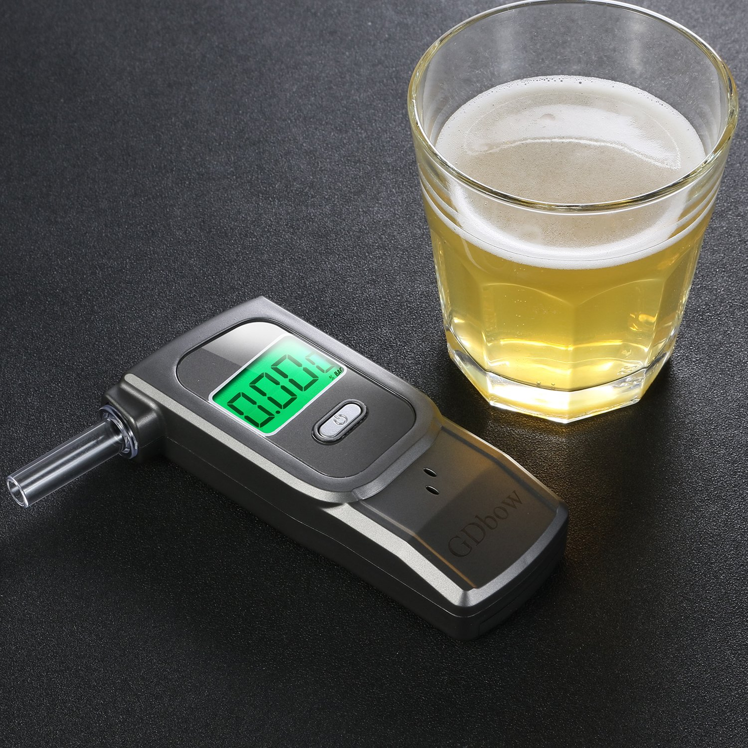 GDbow PortableBreathalyzer AlcoholTester Recording 32 Testing Results with 5 Mouthpieces for Personal Use -Grey by GDbow (Image #3)
