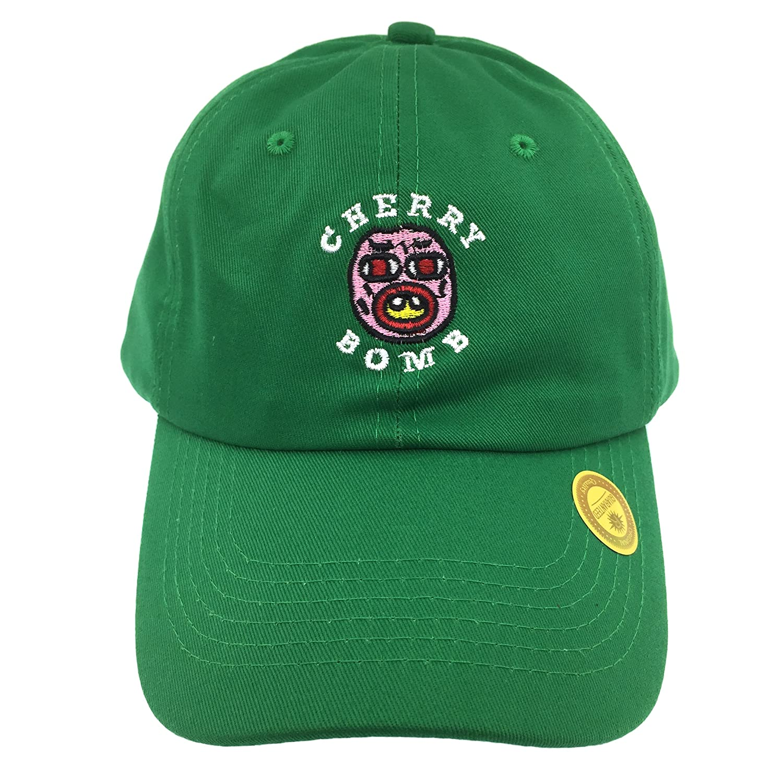 b38334f0f4ce2 Golf Wang Cherry Bomb Baseball Dad Hat Cap Bastard Snapback Wolf Men Panel  (Green) at Amazon Men s Clothing store