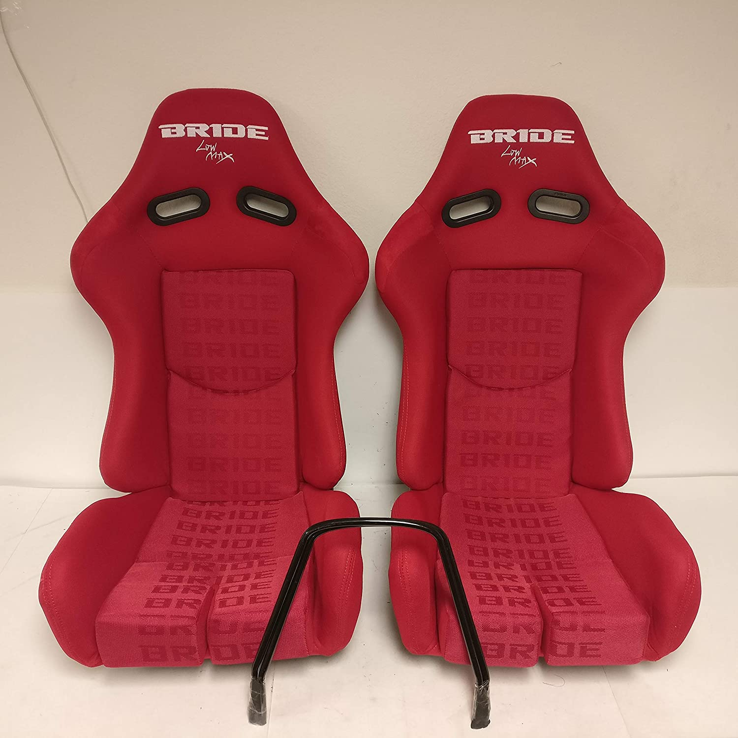 Bride Carbon Kevlar Red Cloth Low Max Reclinable Bucket Racing Seat Pair AJP Distributors