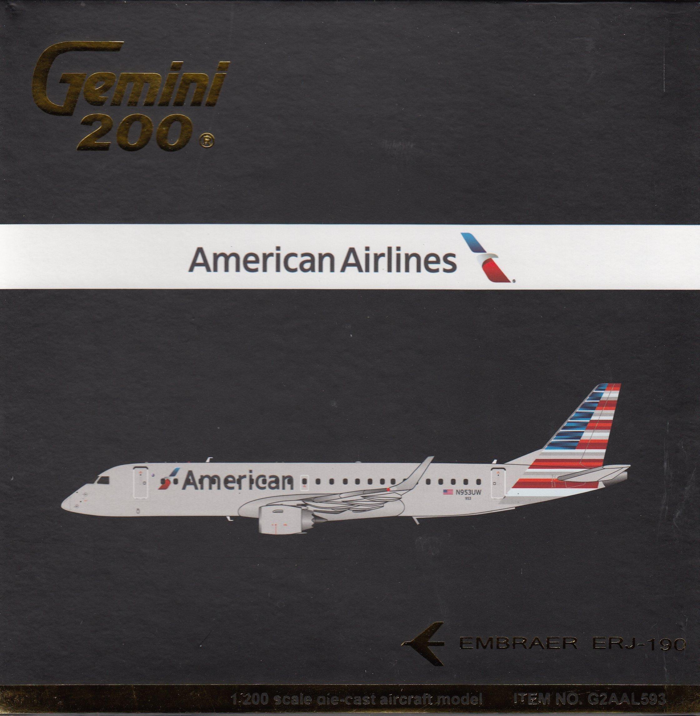 GEMINI Gemini200 American ERJ-190 Airplane Model (New Livery)