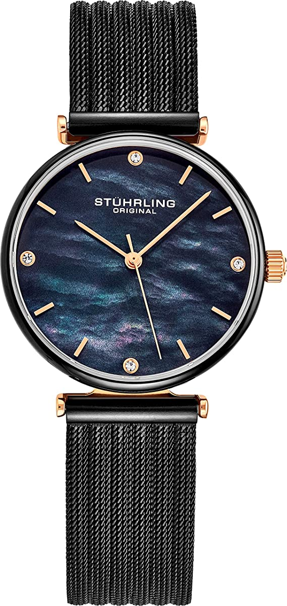 Stuhrling Original Womens Watch Mother of Pearl Analog Watch Dial