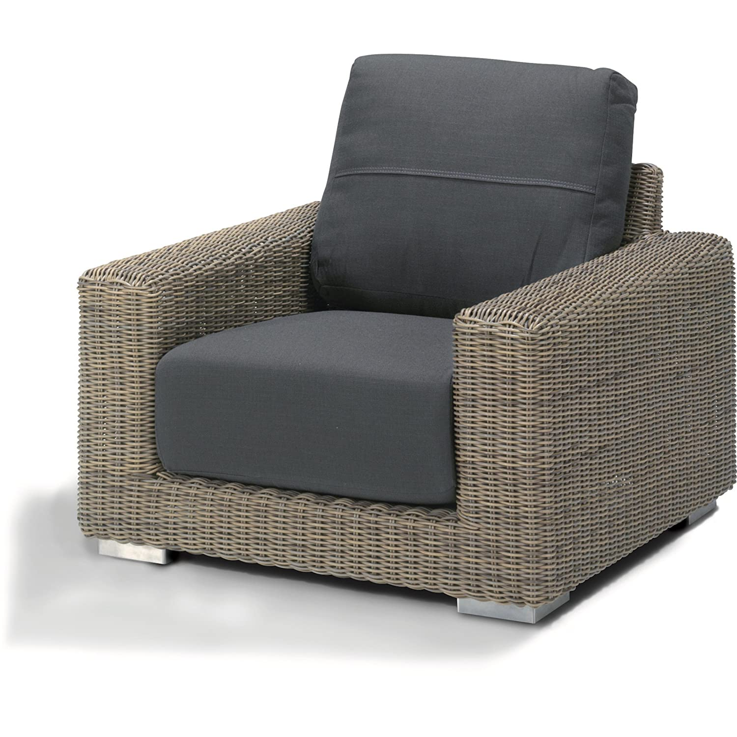 4Seasons Outdoor Kingston living Sessel Loungesessel Polyrattan pure ...