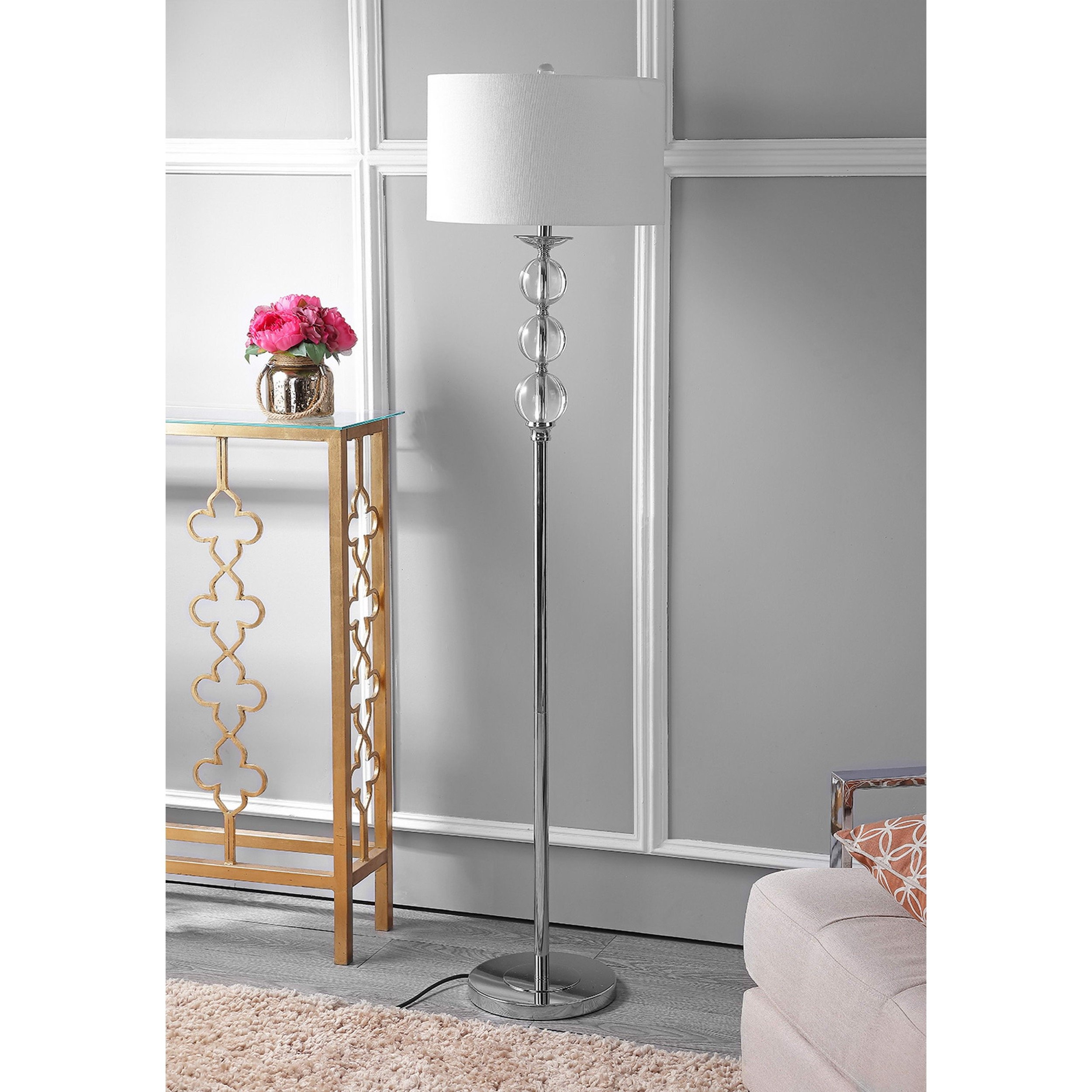 Safavieh Lighting Collection Pippa Glass Globe 62-inch Floor Lamp