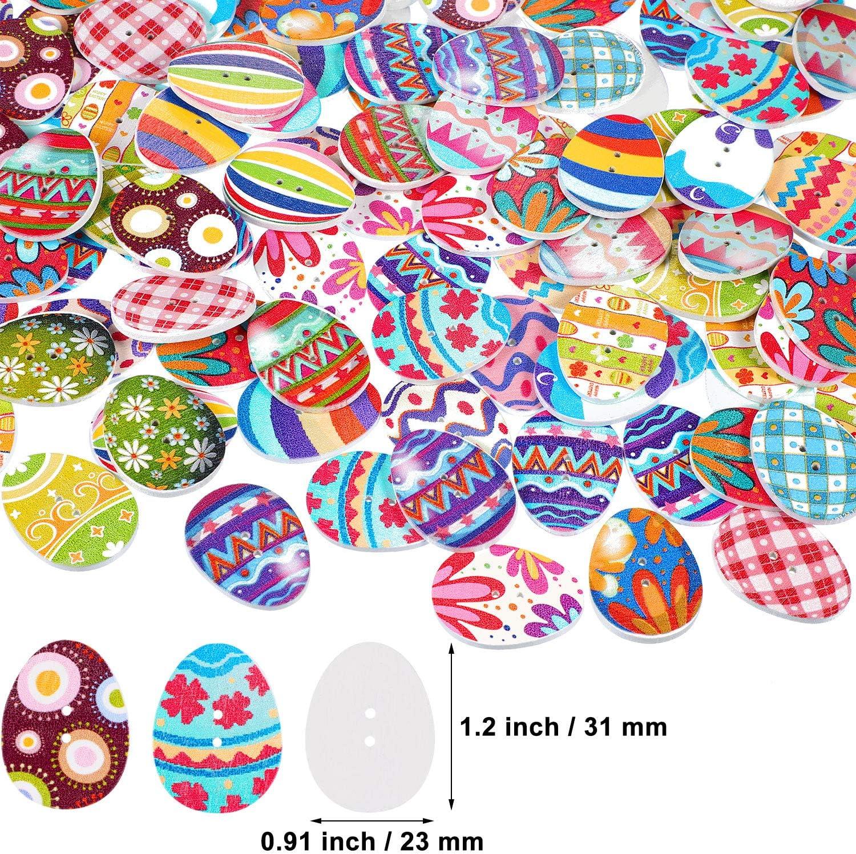 10 bouton 31 x 23 mm œuf de pâque animaux bois couture scrapbooking mercerie