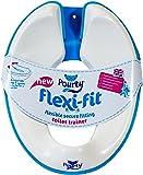 Pourty Flexi-Fit Toilet Trainer, White/ Blue