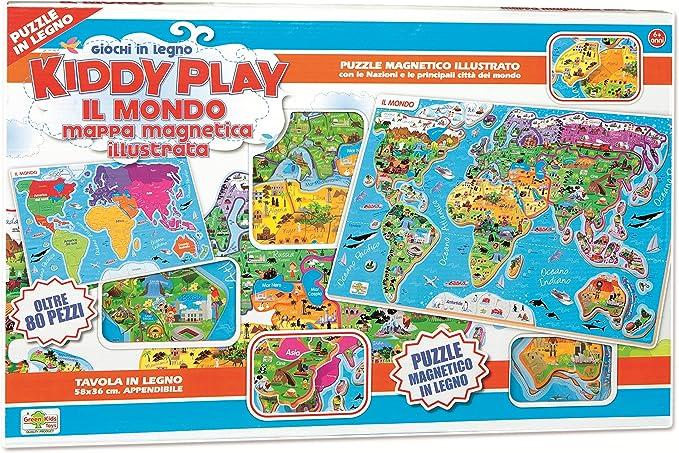 RSTA 9321 – Puzzle Mapa magnético del Mundo, Madera: Amazon.es: Juguetes y juegos