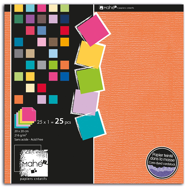 Toga PBE10 Bloc de 25 Feuilles Papier Multicolore 15 x 20 x 0,5 cm