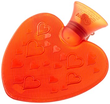 a6787733b3 Fashy Small Heart Shaped Red Transparent Travel Size Hot Water Bottle Made  in Germany, Soothes