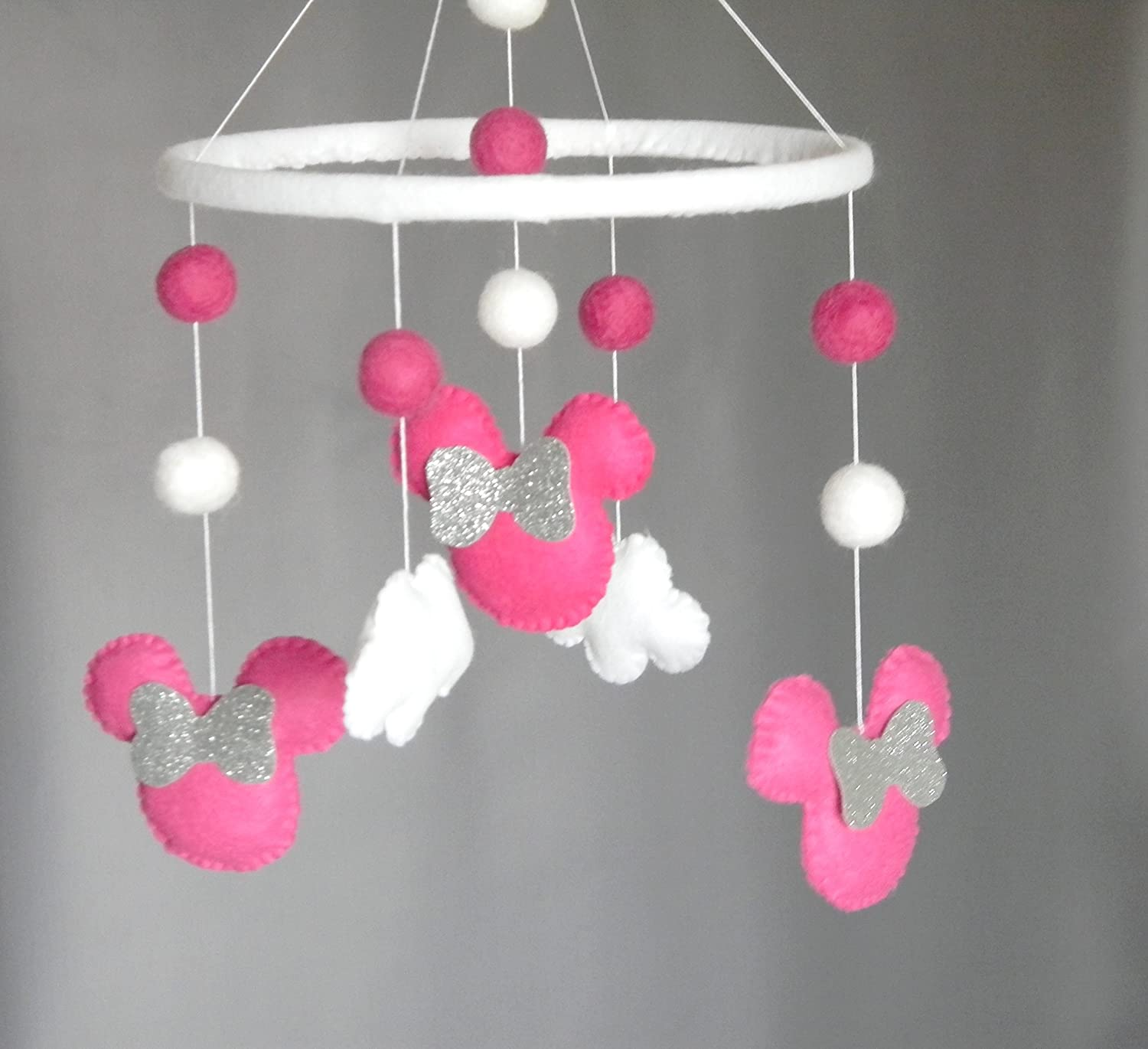 Amazoncom Disney Inspired Minnie Mouse Baby Mobile Baby Crib Mobile Modern
