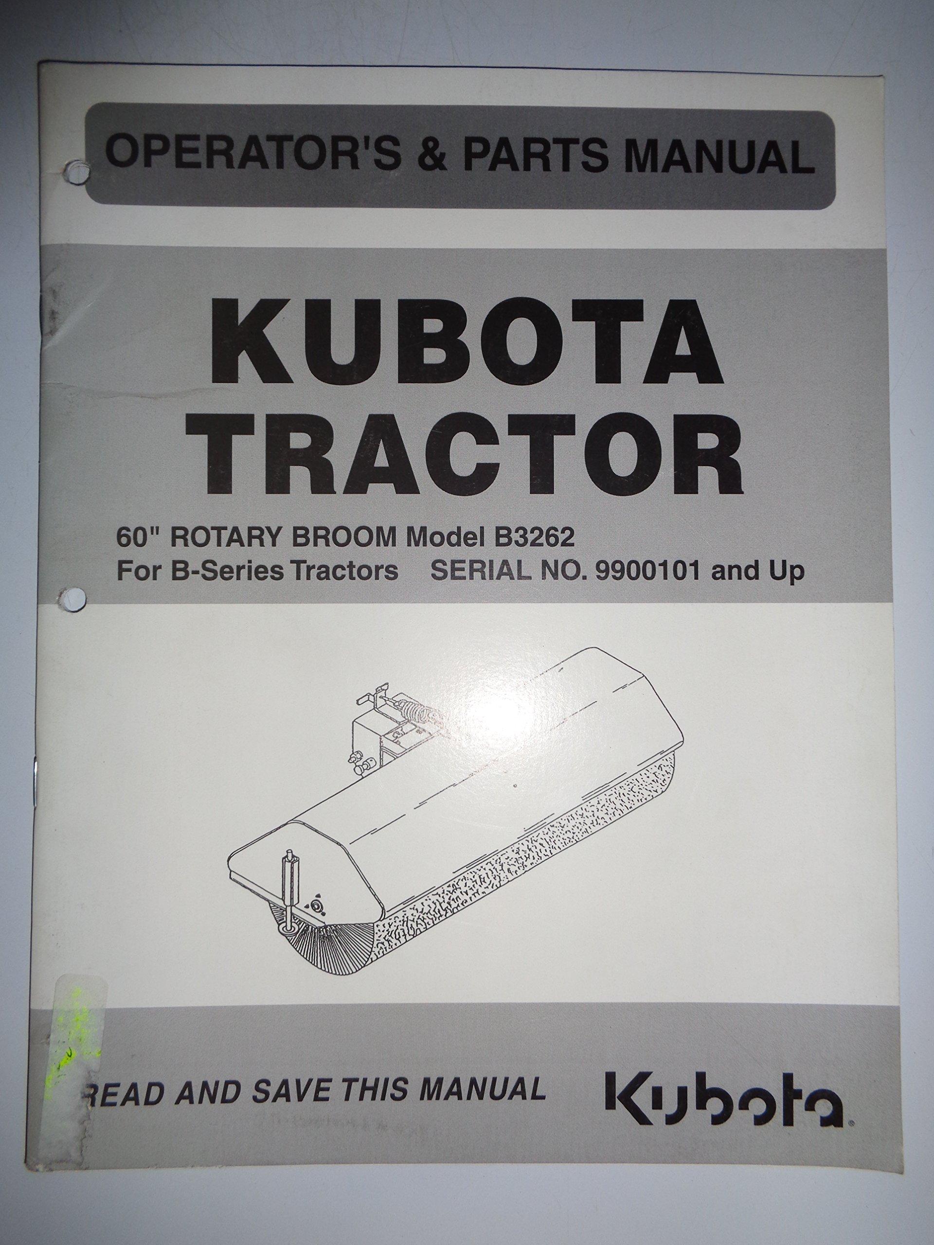 kubota b3262 60 rotary broom for b series tractors parts rh amazon com Kubota L4060 Operators Manual Kubota Tractor Restoration