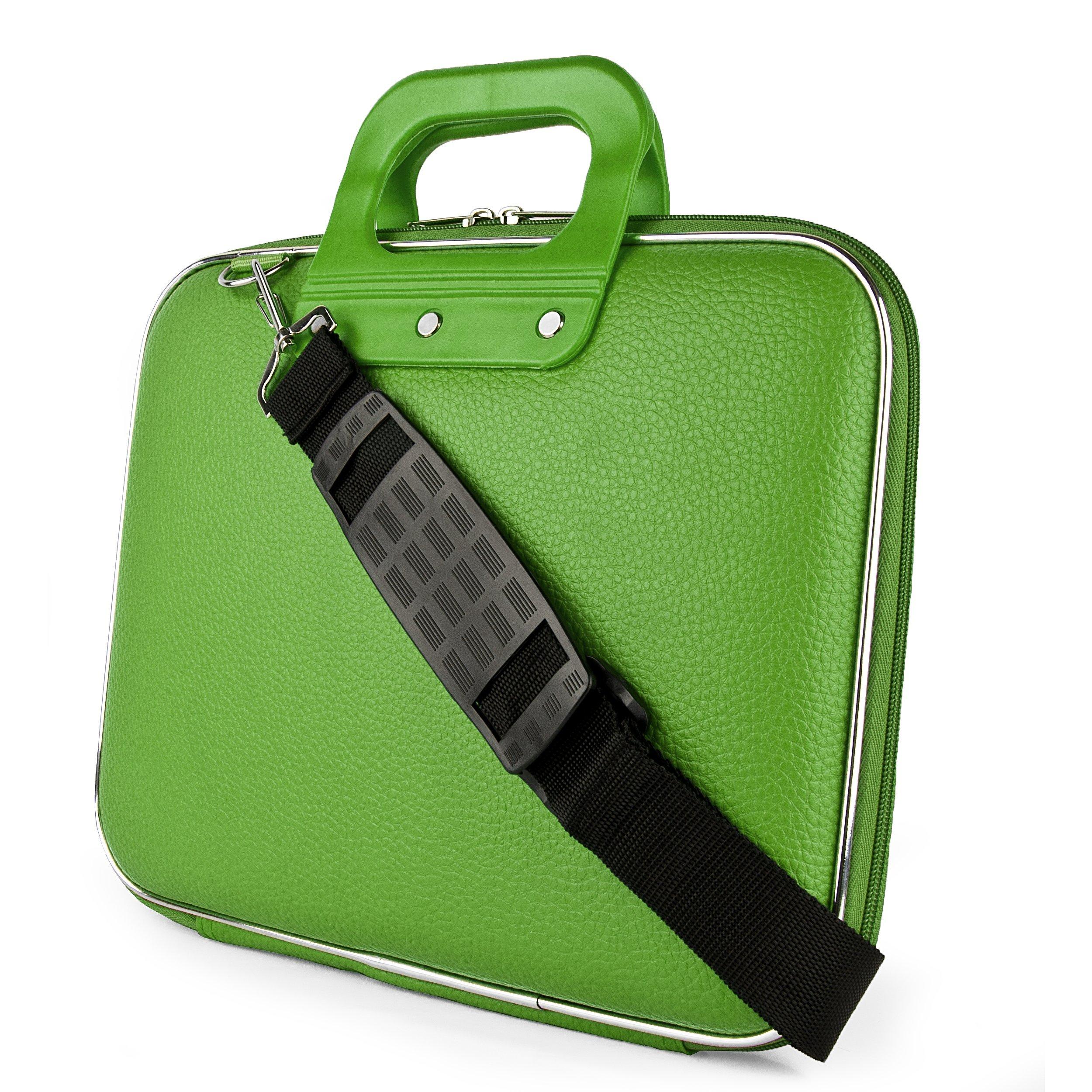 SumacLife Cady Shoulder Messenger Bag Case Sleeve for Lenovo Thinkpad E550/E555/Flex 3/Z50/Z51 15.6/15.6-inch Laptops (Green) by SumacLife