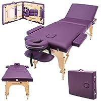 Massage Imperial® Chalfont -Table de massage Portable pro luxe - 3 Zones - Panneaux Reiki - Légère - Couleur : Violet