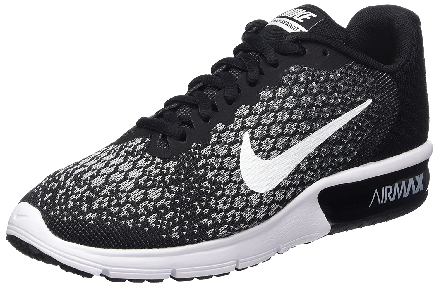 online store 29fa4 5a90b Amazon.com   Nike Women s Air Max Sequent Running Shoes Black White-Dark  Grey-Wolf Grey 7.5   Road Running