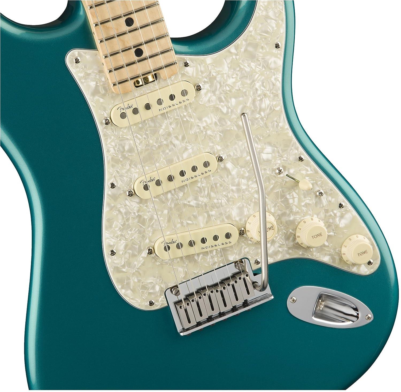 Fender American Elite Stratocaster arce diapasón guitarra eléctrica océano turquesa: Amazon.es: Instrumentos musicales
