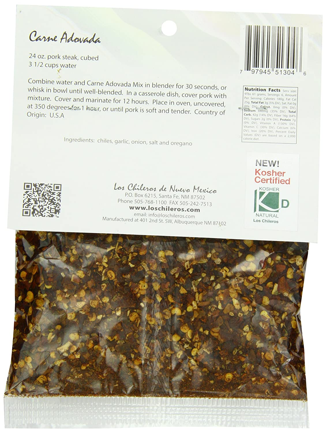 Amazon.com : Los Chileros Carne Adovada Mix, 4 Ounce : Mixed Spices And Seasonings : Grocery & Gourmet Food