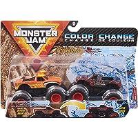 Monster Jam, Official El Toro Loco vs. Northern Nightmare Color-Changing Die-Cast Monster Trucks, 1:64 Scale