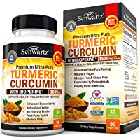 Turmeric Curcumin with BioPerine 1500mg. Highest Potency Available. Premium Joint & Healthy Inflammatory Support with 95…