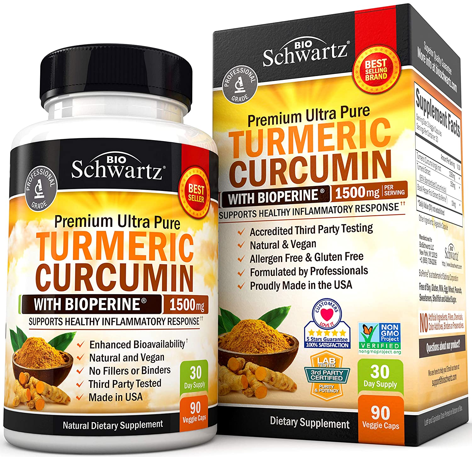 Premium Joint & Healthy Inflammatory Support with 95% Standardized Curcuminoids