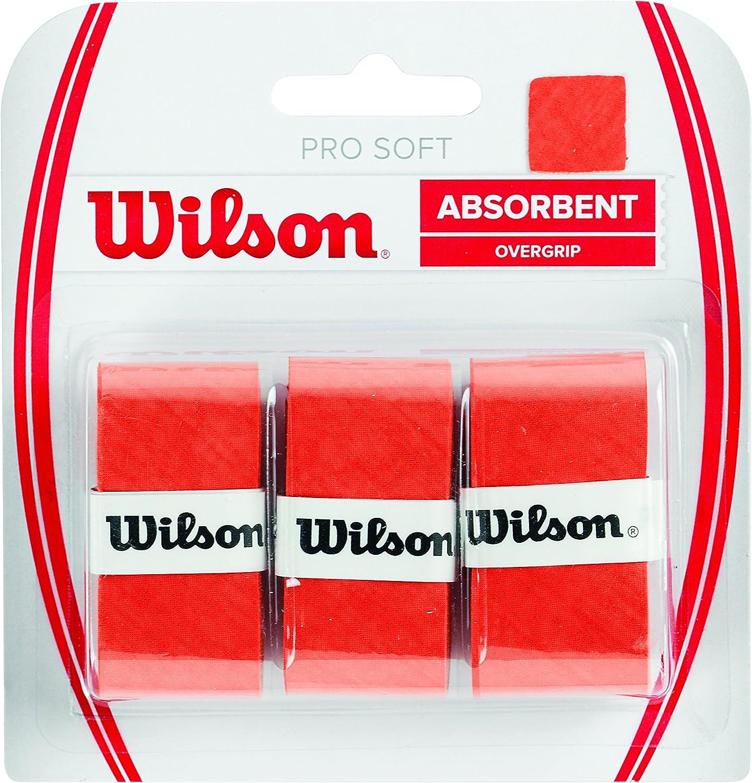 Wilson Pro Soft Overgrip Empuñadura, Unisex