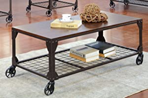 Furniture of America Kastas Coffee Table, Black
