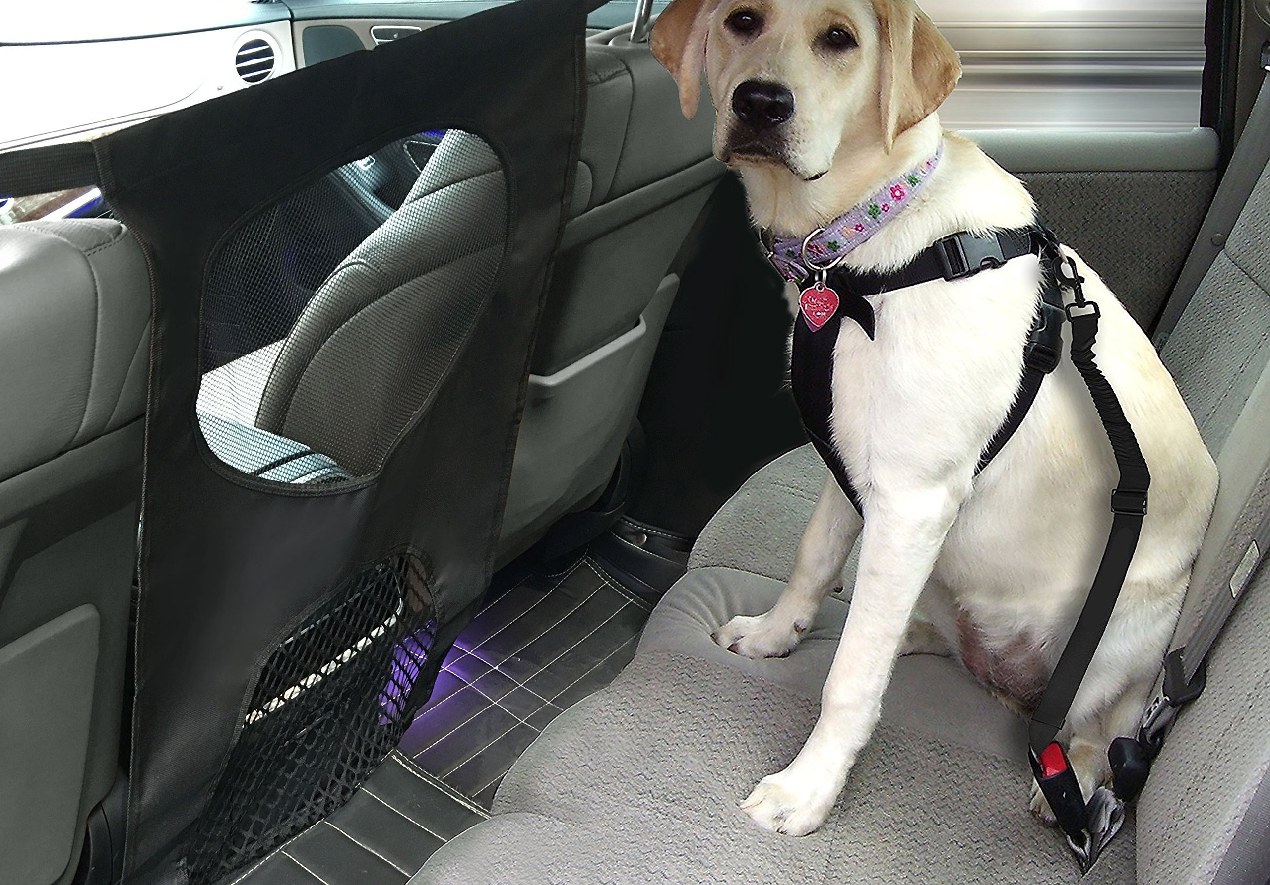 Lifepul Pet Net Barrier (TM) Dogs Backseat Barrier Mesh Obstacle Dog Car Fence Mesh, to Keep Your Pets and Drivers Safety inTravel, One Size Fit Most & Easy to Install for Car,SUV,Truck, by Lifepul (Image #7)