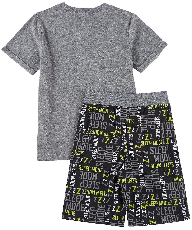Grey//White//Green Big Boys Sloth Sleep Mode Pajama Set X-Large Jelli Fish Inc 14-16