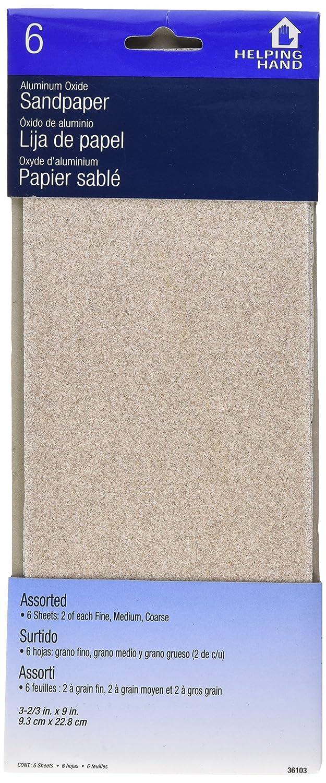 The Faucet Queen 36103 Helping Hand Aluminum Oxide Assorted Sandpaper, 9