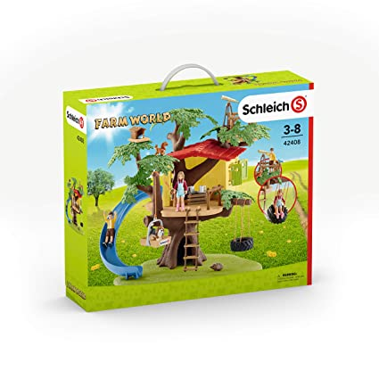 Amazon.com: Schleich 42408 Adventure Tree House Play Set, Multicolor